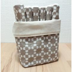 Créa'Récup Design - Panière lingettes démaquillantes motifs fleur - Lingette
