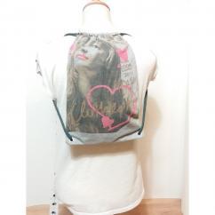 Créa'Récup Design - Petit sac à dos à cordelette imperméable FILLETTE - Sac (enfant) - Vert