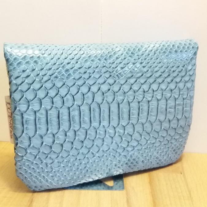 Créa'Récup Design - Porte-monnaie python bleu ciel - Porte-monnaie - Bleu