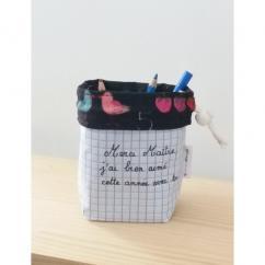 Créa'Récup Design - Pot à crayon tissus - Pot à crayon