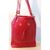 Créa'Récup Design - Sac à main simili-cuir bi-couleurs : sur COMMANDE - Sac à main - Rouge