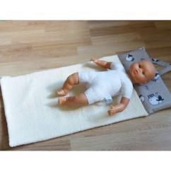 Créa'Récup Design - Tapis bébé nageur moutons - Sortie de bain