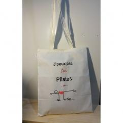 """Créa'Récup Design - Tote bag """"J'peux pas, j'ai Pilates"""" - Tote bag"""