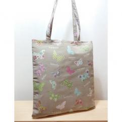 Créa'Récup Design - Tote bag papillons verts - Tote bag