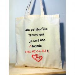 Créa'Récup Design - Tote bag Personnalisé Grand-Mère - Tote bag