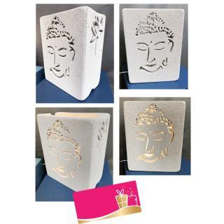 CREALAMPES - Lampe Déco motif sculpté BOUDDHA - Lampe d'ambiance