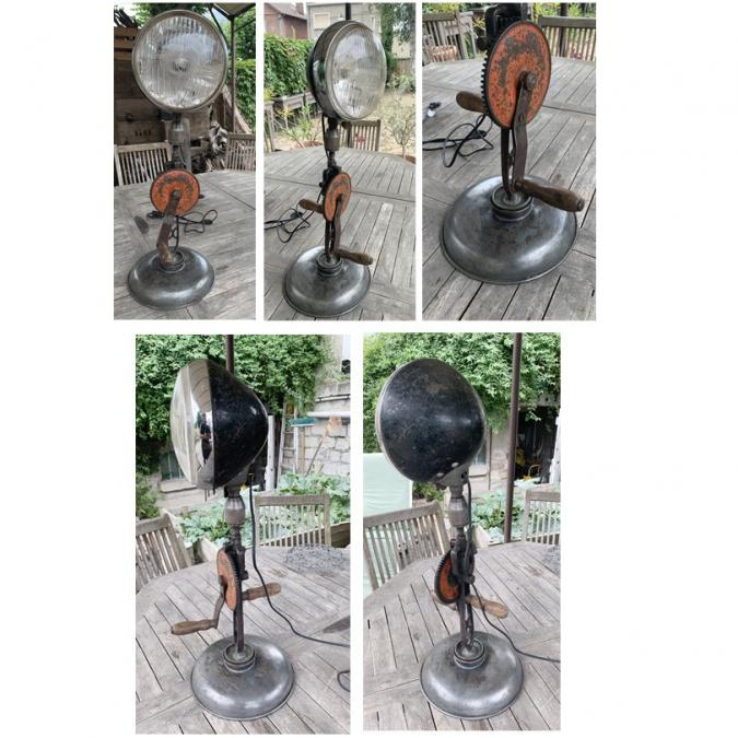 CREALAMPES - Lampe UPCYCLING Chignole ancienne - Lampe d'ambiance