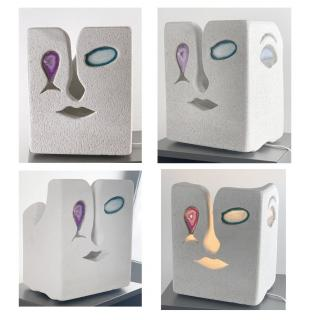 CREALAMPES - Lampe Visage Picasso - Lampe d'ambiance