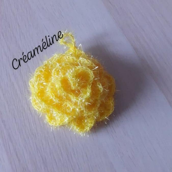 Créaméline - Fleur pour la vaisselle (TAWASHI) - jaune - Tawashi