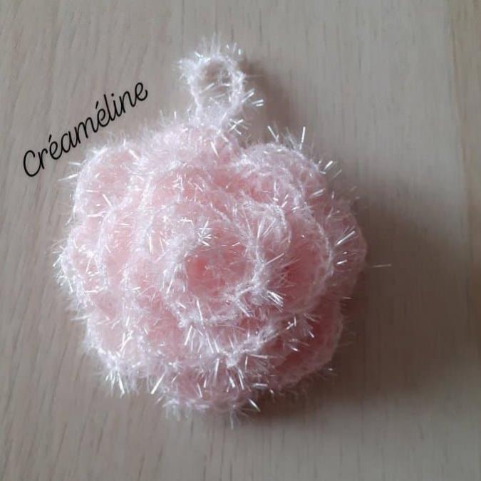 Créaméline - Fleur pour la vaisselle (TAWASHI) - rose clair - Tawashi