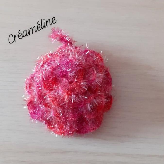 Créaméline - Fleur pour la vaisselle (TAWASHI) - rose/rouge - Tawashi