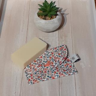 Créaméline - Pochette à savon - Petites fleurs - Pochette à savon