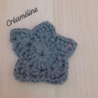 Créaméline - Tawashi gris - étoile - Tawashi
