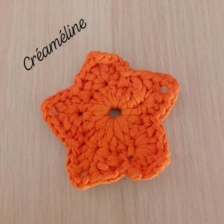 Créaméline - Tawashi orange - étoile - Tawashi