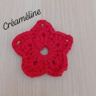 Créaméline - Tawashi rouge - étoile - Tawashi
