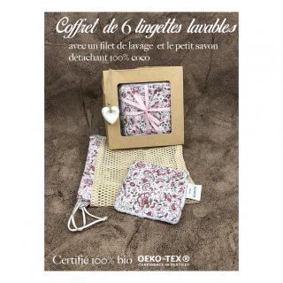 Création zéro-déchet - Coffret de 6 lingettes réutilisable - Lingette
