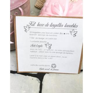 Création zéro-déchet - Lingettes réutilisables en kit luxe - Lingette