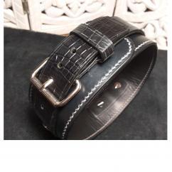 Cuir et bijoux - Collier large double sangle - Collier pour chien