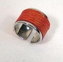 Cuir et Carnets - Bague métal et cuir - Bague - Metal et cuir