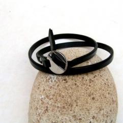 Cuir et Carnets - Bracelet cuir noir - Bracelet - Cuir