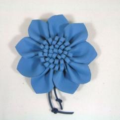 Cuir et Carnets - Broche fleur - Broche