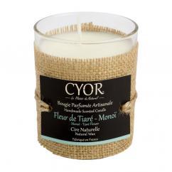 CYOR - Bougie Parfumée  Fleur de Tiaré-Monoï - 100% naturelle - Bougie -