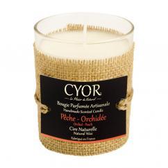 CYOR - Bougie Parfumée Pêche Orchidée - 100% naturelle - Bougie -