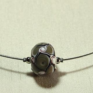 Délicatesse de perle - COLLIER 1 PERLE GRISE - Collier - Acier