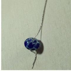 Délicatesse de perle - SAUTOIR PERLE BLEUE - Collier - Acier