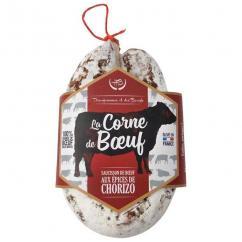 Des Hommes et des Boeufs - Corne de Boeuf Angus aux épices de Chorizo - Saucisson - 180 gr