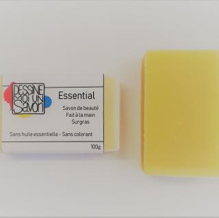 Dessine moi un savon - Savon surgras ESSENTIAL, Sans huile essentielle, Vegan - Savon - 100 g