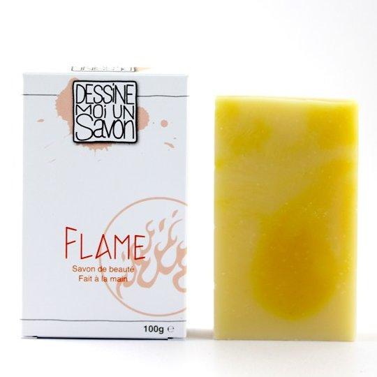 Dessine moi un savon - Savon surgras FLAME, enrichi en Karité, Vegan - Savon - 100 g