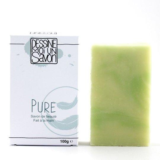 Dessine moi un savon - Savon surgras PURE, enrichi en Karité, Vegan - Savon - 100 g