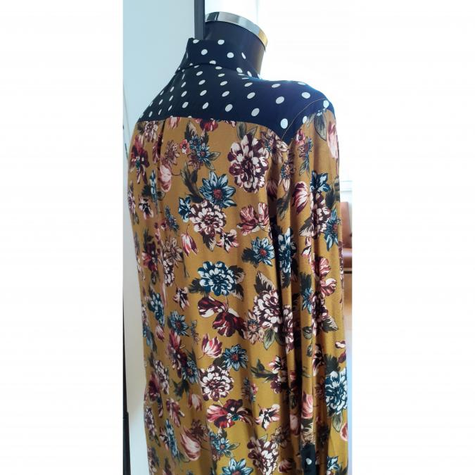 didi bhati - CHEMISE HOMME, taille S/M, modèle PAOLO, pièce unique, viscose haute couture - Chemise (homme)