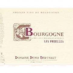 """Domaine Berthaut - Bougogne """"Les Prielles"""" - 2008 - Bouteille - 0.75L"""
