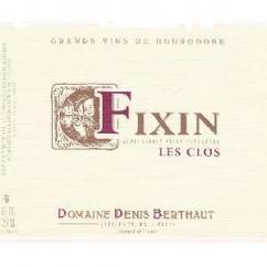 Domaine Berthaut - FIXIN Les Clos - 2012 - Bouteille - 0.75L