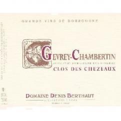 Domaine Berthaut - Gevrey-Chambertin Clos des Chezeaux - 2012 - Bouteille - 0.75L