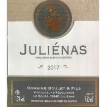 Domaine Boulet - Julienas traditionnel - 2017 - Bouteille - 0.75L