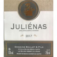 Domaine Boulet - Juliénas traditionnel - 2017 - Bouteille - 0.75L
