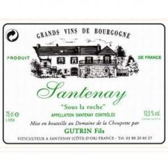 Domaine de la Choupette Gutrin fils - SANTENAY Sous la roche - 2004 - Bouteille - 0.75L