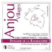 Domaine de la Raimbaudière - Anjou Villages - rouge - 2015 - Bouteille - 0.75L