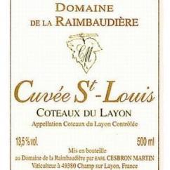 Domaine de la Raimbaudière - Cuvée Saint Louis - 2010 - Bouteille - 0.75L