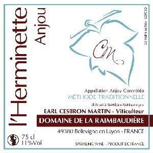 Domaine de la Raimbaudière - L'Herminette - Fines bulles blanches - N/A - Bouteille - 0.75L