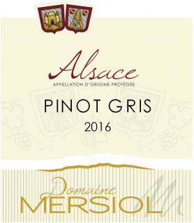 Domaine Mersiol - Pinot Gris - blanc - 2016 - Bouteille - 0.75L
