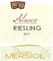 Domaine Mersiol - Riesling - blanc - 2017 - Bouteille - 0.75L