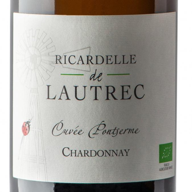 Domaine Ricardelle de Lautrec - Chardonnay Pontserme - 2018 - Bouteille - 0.75L