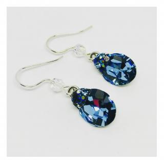 ELILOLA BIJOUX - Boucles d'oreilles bleues - Boucles d'oreille - Cristal