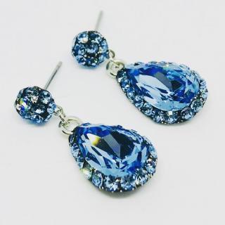 ELILOLA BIJOUX - Boucles d'oreilles bleues - Boucles d'oreille - Cristal (swarovski)