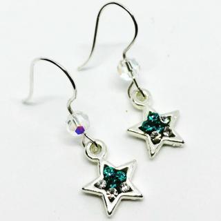 ELILOLA BIJOUX - Boucles d'oreilles étoiles turquoise - Boucles d'oreille - Cristal (swarovski)