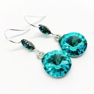 ELILOLA BIJOUX - Boucles d'oreilles turquoises - Boucles d'oreille - argent